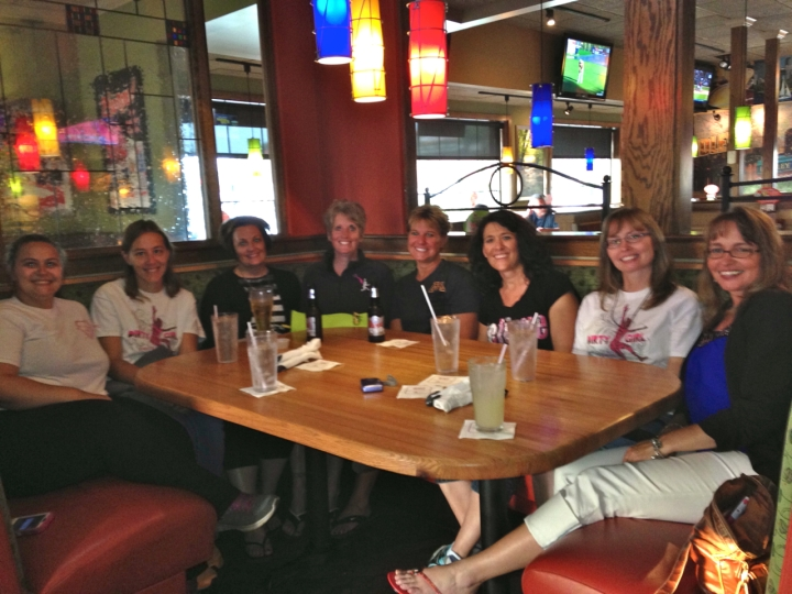 eight of us at applebees