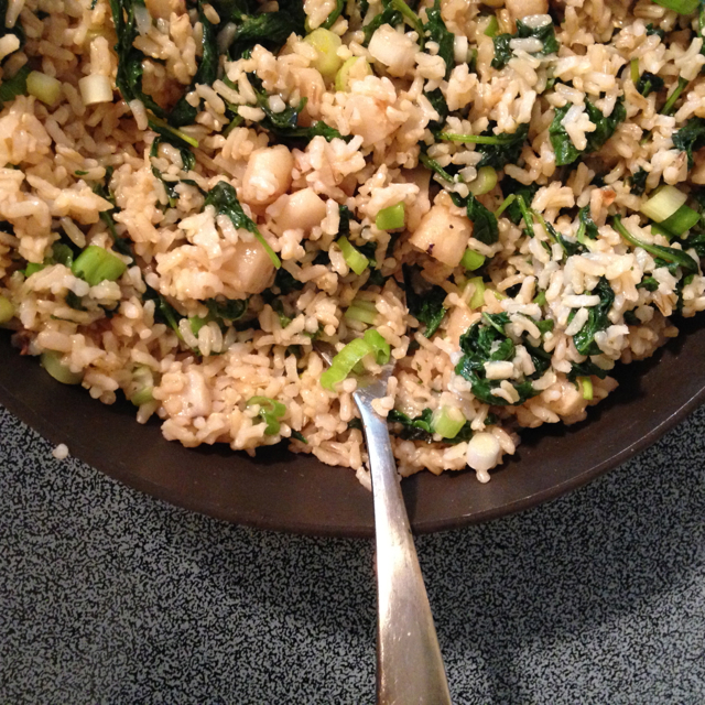 brown rice concoction