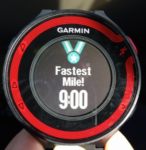fastest mile record