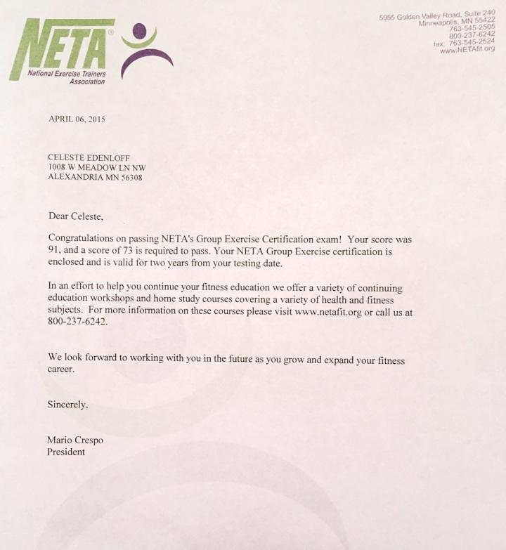 NETA letter