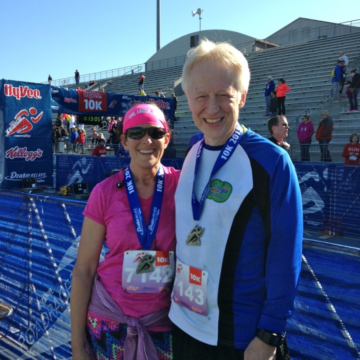 me and al at the finish line