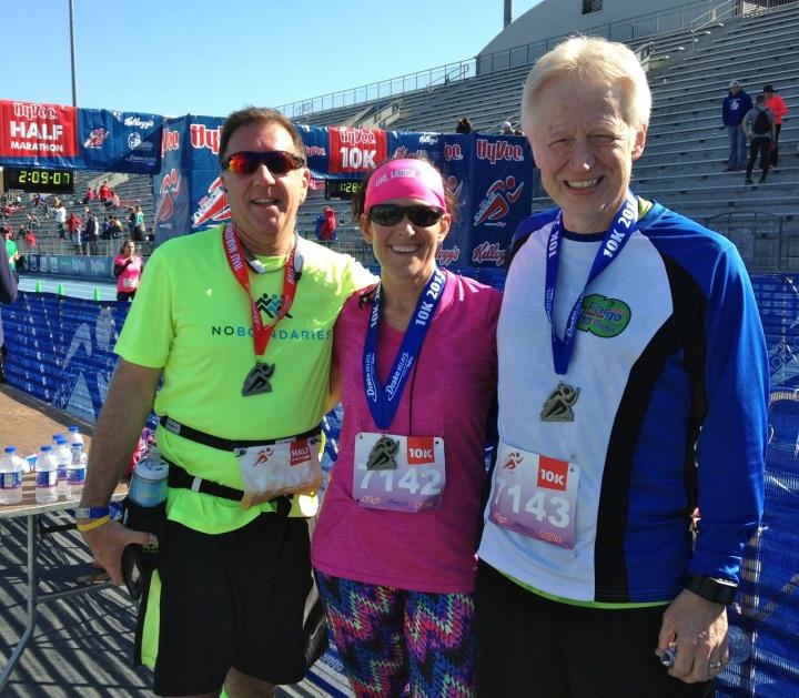 three of us at finish
