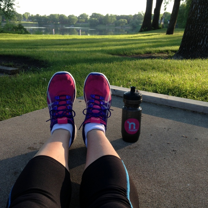 shoes and nuun bottle