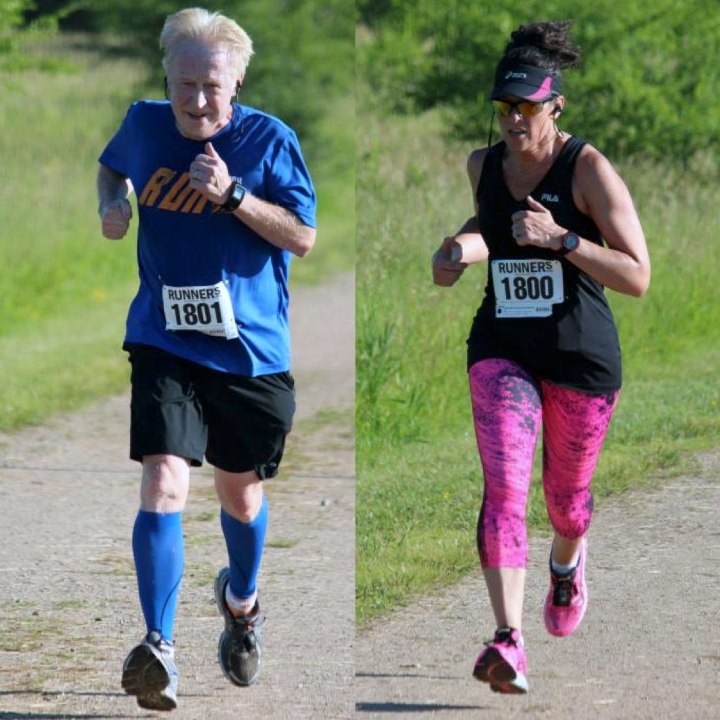 me and al side by side running
