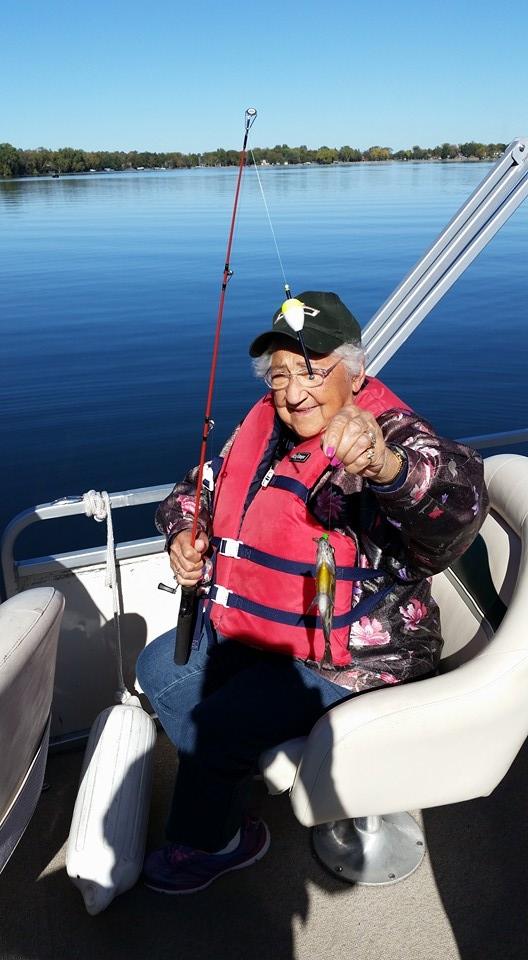 mom fishing