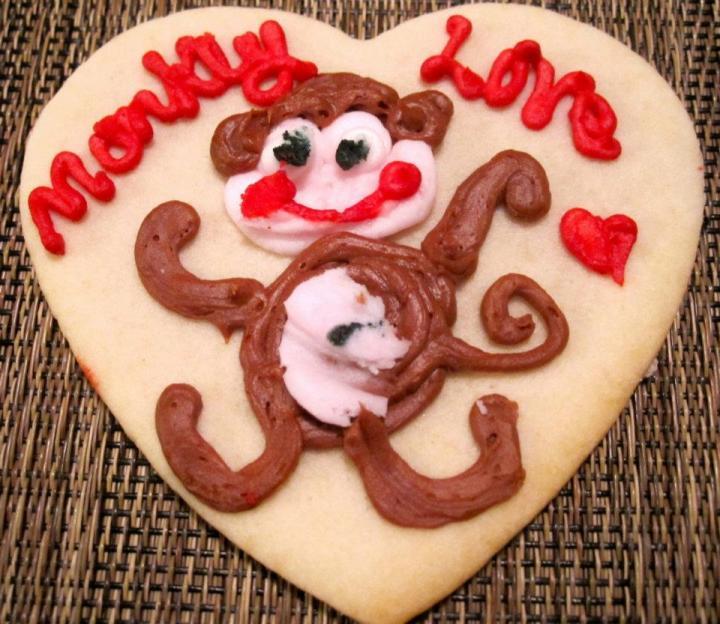 monkey love cookie